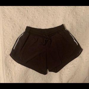 Lululemon black running shorts size 6 MINT